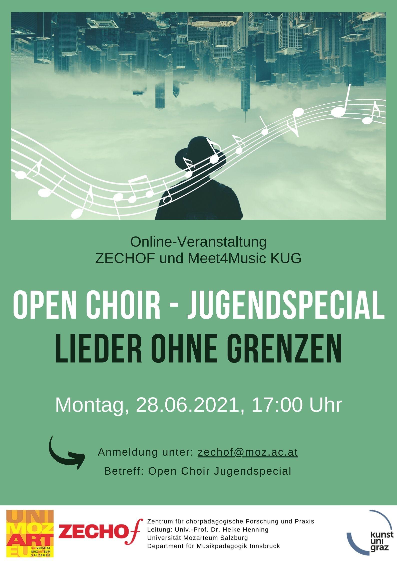 "Open Choir Jugendspecial ""Lieder ohne Grenzen"""